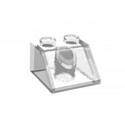 Šikmá kostka 45 st., 2 x 2, transparentní, LEGO 3039