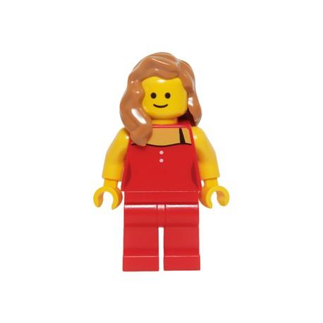 Dáma v červeném, Minifigurka pro LEGO Town set Detektivní kancelář