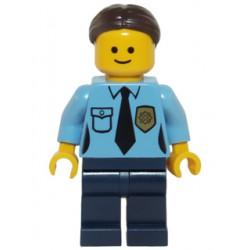 Policistka s vlasy s drdolem (vzadu), Minifigurka pro LEGO Town 10246 Detektivní kancelář