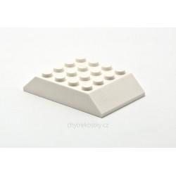 Šikmá kostka, dvojitá 45°, 6 x 4 x 1 (Střecha vagonu) - bílá / Slope 45° 6 x 4 Double LEGO 32083