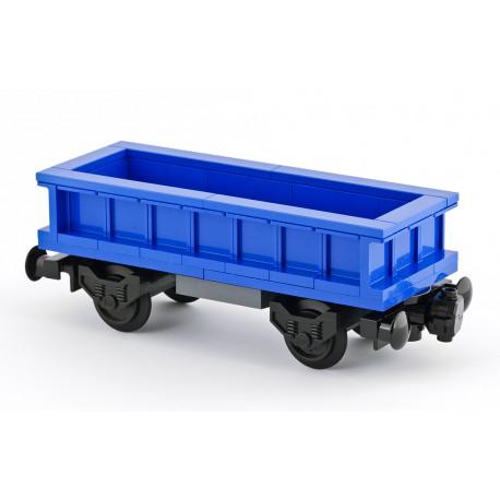 Otevřený nákladní vagon - modrý - speciální model LEGO MOC z originálních dílů LEGO®, Custom 022b
