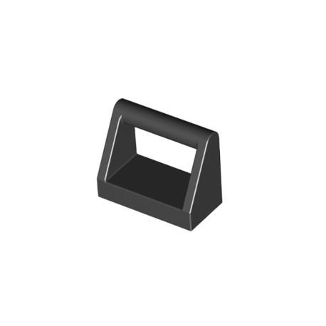 Dlaždice s madlem, držadlem 1 x 2 - černá - LEGO 2432/ 243226 - LEGO Black Tile with Handle