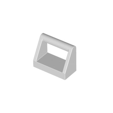 Dlaždice s madlem, držadlem 1 x 2 - světle šedá - LEGO 2432/ 4211357 - LEGO Light Bluish Grey Tile with Handle