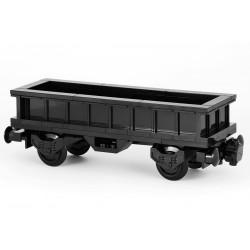 'All in Black' - Prodloužený otevřený nákladní vagon - exkluzivně černý - LEGO MOC Custom 038