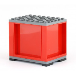 Kontejner pro železniční vagony a silniční kamiony, S PATKAMI, 6 x 8 - červený - LEGO MOC Custom 012