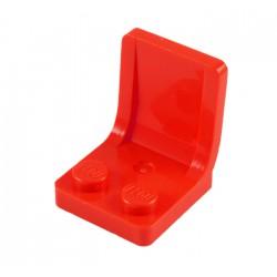 Sedadlo 2 x 2 x 2 - červené - LEGO 407921 Seat