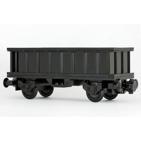 'All in Black' - Zvýšený a prodloužený nákladní vagon, korba 6 x 18 x 3,3 - exkluzivně černý - LEGO MOC Custom 037