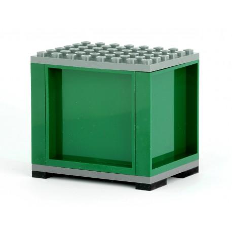 Kontejner vojenský pro železniční vagony a silniční kamiony, S PATKAMI, 6 x 8 - tmavě zelený - LEGO MOC Custom 012