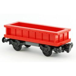 Otevřený nákladní vagon - červený - speciální model LEGO MOC z originálních dílů LEGO®, Custom 022c
