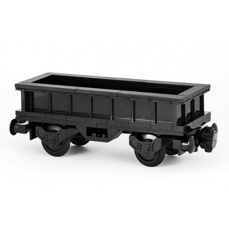'All in Black' - Otevřený nákladní vagon - exkluzivně černý - LEGO MOC Custom 039
