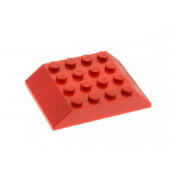Šikmá kostka, dvojitá 45°, 6 x 4 x 1 (Střecha vagonu) - červená - Slope 45° 6 x 4 Double LEGO 32083