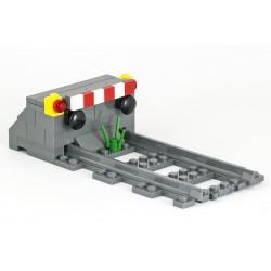 Betonové železniční zarážedlo pro ukončení koleje - samostatné nárazníky - LEGO MOC Custom 043 (Concrete railroad Stop Block)