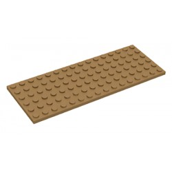 Deska 6 x 16 - tmavě béžová - LEGO Plate 3027 Dark tan