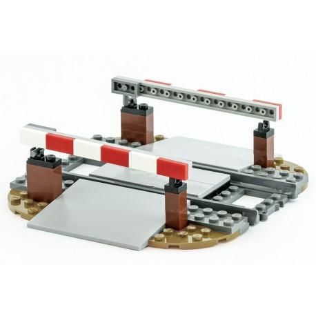 Železniční závory a přejezd - speciální model z originálních dílů LEGO, Custom MOC 033