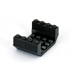 Set: Spodek vagonu - Šikmá kostka, obrácená, dvojitá 45°, 6 x 4 x 1 a 4 ks Brick with Grille - černé - LEGO 60219, 2877