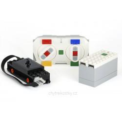 Bluetooth set pro motorizaci lokomotivy: motor, bateriový box s přijímačem a dálkový ovladač - LEGO® Power Function 2.0