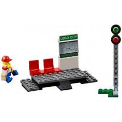 Zastávka / nádraží ze soupravy LEGO City 60051 Vysokorychlostní osobní vlak