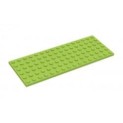 Deska 6 x 16 - světle zelená / Lime - LEGO Plate 3027
