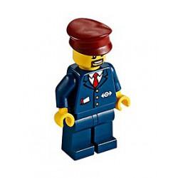 Strojvůdce a průvodčí osobního vlaku LEGO 60197 - originální LEGO® Minifigurka