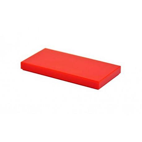 Dlaždice hladká 2 x 4 - červená - LEGO 87079 Tile Red