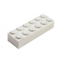 Kostka 2 x 6 x 1, klasická - tmavě šedá - LEGO 2456 - Dark Bluish Gray Brick