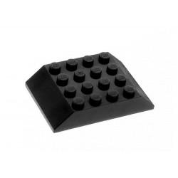 Šikmá kostka, dvojitá 45°, 6 x 4 x 1 (Střecha vagonu) - černá - LEGO 32083 Slope 45° 6 x 4 Double