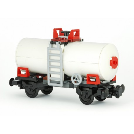 Vagon cisterna - bílá - speciální model z originálních dílů LEGO®, Custom MOC 027