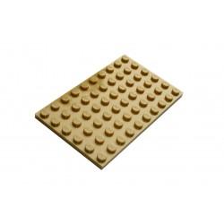 Deska 6 x 10 - tmavě béžová - LEGO Plate 3033 Dark tan