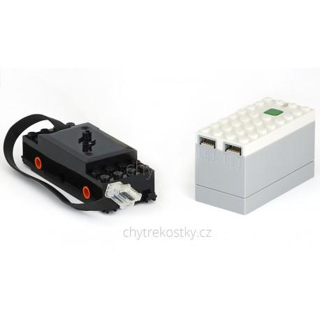 Bluetooth set pro motorizaci lokomotivy: motor a bateriový box s přijímačem - LEGO® Power Function 2.0