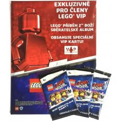 Sada: Boží sběratelské album LEGO MOVIE 2 a 3 balíčky Boží sběratelské karty - EXKLUZÍVNÍ pro členy LEGO® VIP