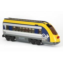 Osobní vagon − ZADNÍ KONCOVÝ, 2. CESTOVNÍ TŘÍDA − pro LEGO City 60197 Osobní vlak, LEGO MOC 061B