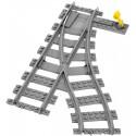 Kolej výhybka levá pro RC vlak s pákou, LEGO City 53407