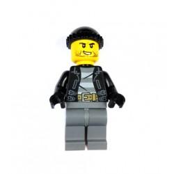 Bandita, lupič z města, s přiléhavou čepicí, Minifigurka pro LEGO City Police