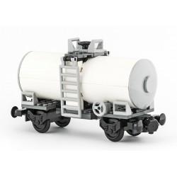 Vagon cisterna - žluto-bílá - speciální model z originálních dílů LEGO®, Custom MOC 027
