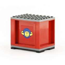 Kontejner pro železniční vagony a silniční kamiony, S PATKAMI, 6 x 8 - červený - LEGO MOC Custom 012, použitý