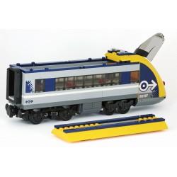 """Koncový osobní vagon − s """"trakčními"""" nápravami − pro LEGO 60197 Osobní vlak"""