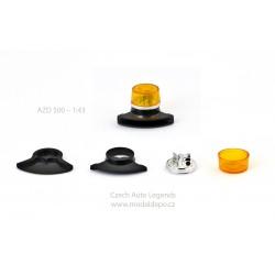 Maják Tesla AZD 500/501 − oranžový s černou zvukovou sirénou − stavebnice − CAL 1:43