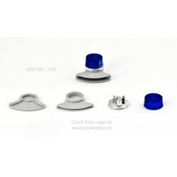 Maják Tesla AZD 500/501 − modrý s šedou zvukovou sirénou − SESTAVENÝ − CAL 1:43
