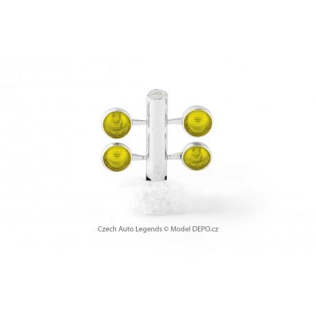 Přídavná světla − pochromované hrnce / žlutá − CAL 1:43