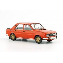 1982 Škoda 120 L, zlatá kola Apollo − oranžová brilantní − ABREX / Model DEPO 1:43