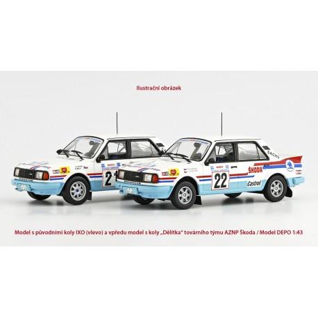 1986 Škoda 130 LR − Acropolis Rally 1986, č. 22, Kvaizar & Janeček − IXO/Model DEPO 1:43