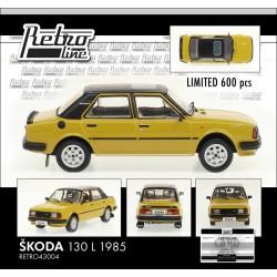 1985 Škoda 130 L − Tabacco − LIMITOVANÁ EDICE Fox18/Retro Line 1:43