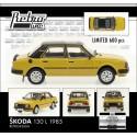 1985 Škoda 130 L − žlutá Tabacco/černá − LIMITOVANÁ EDICE Fox18/Retro Line 1:43