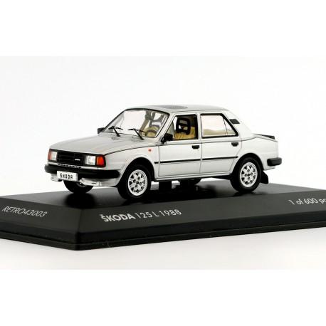 1988 Škoda 125 L − Stříbrná exportní − LIMITOVANÁ EDICE Fox18/Retro Line 1:43