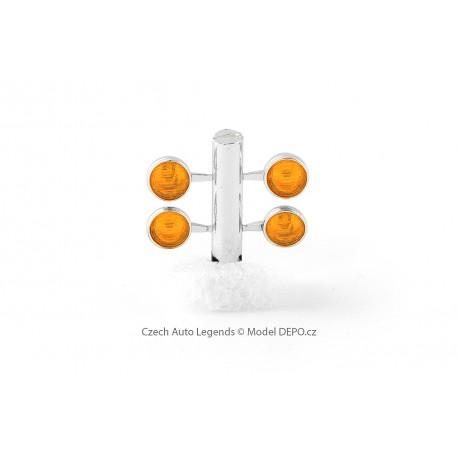 2 a 2 přídavná světla − pochromovaná / oranžová − CAL 1:43