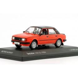 1984 Škoda 120 LS, exportní − červená − LIMITOVANÁ EDICE Fox18/Retro Line 1:43