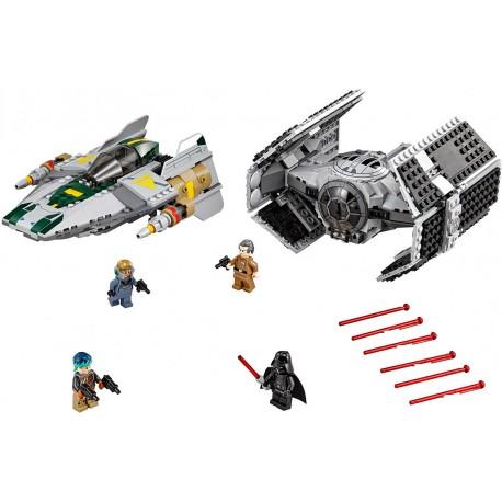 Vaderova stíhačka TIE Advanced proti stíhačce A-Wing, LEGO Star Wars 75150