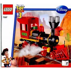 Návod ke stavebnici Západní vlaková honička ,LEGO Toy Story 7597 Western Train Chase