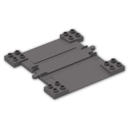 Rovná kolej s přejezdem, LEGO Duplo 6391